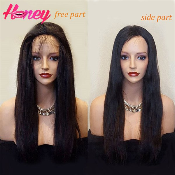 Lace Front Full Lace Wigs Natural Straight 8-24inch In Stock Unprocessed Cheap Grade 7A Brazilian Virgin Human Hair Wigs