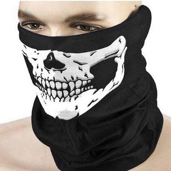 Wholesale- 2017 New Magic Pirate Scarf Veil Outdoor Sport Cycling Seamless Mask Winter Half Face Shield