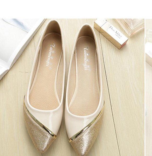 2017 autumn New style Korean female Shallow mouth pointed end Single shoes Small code and Large size shoes