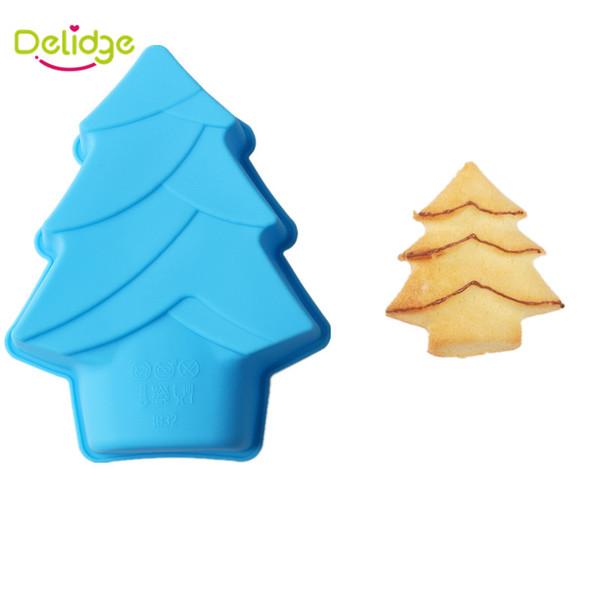 1 pc Christmas Tree Cake Mold Silicone DIY Tree Shape Chocolate Mold DIY Baking Cake Bread Pudding Maker Tools