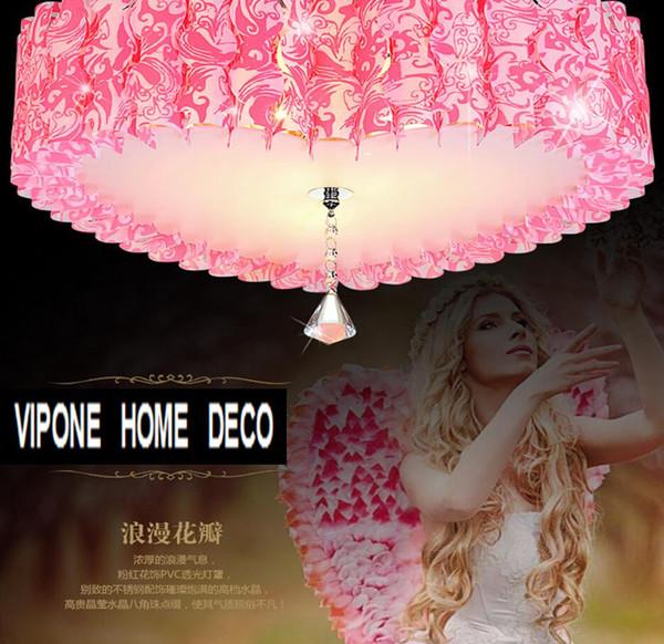 Candelabro techo amor moda rosa. Pvc dormitorio romántico en forma de corazón accesorios de iluminación. Luces de la sala de matrimonio del corazón