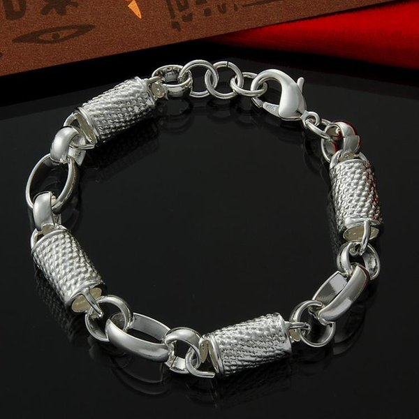 Factory direct wholesale 925 Sterling Silver Post shape Fashion Bracelet Sterling Silver Bracelet
