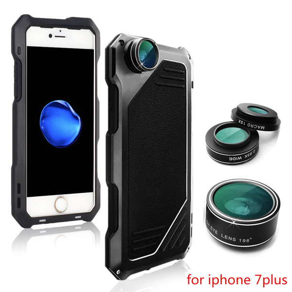 Full-Body Protective Case with Camera Lens Kits For iPhone 7 Plus Mobile Case Hybrid Heavy Duty Shockproof Cover for iPhone 7 Plus