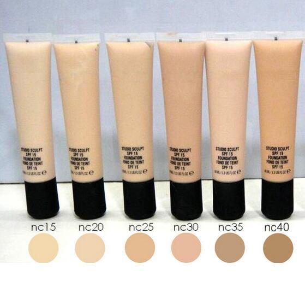 Liquid Loose Powder Migliore Qualità M SCULPT SPF 15 Fondotinta Fond DE TEINT 40ml Fondotinta Liquido spf 15 40ML Women Makeup Foundation
