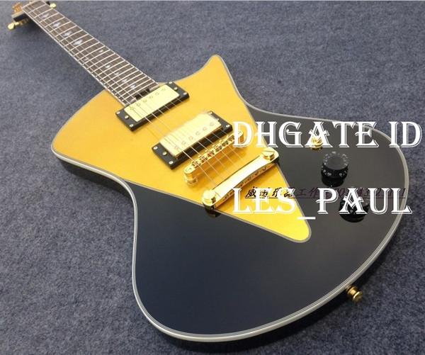 Custom Musicman Ernie Ball Armada Electric Guitar China Guitare Black and Gold Music Instrument
