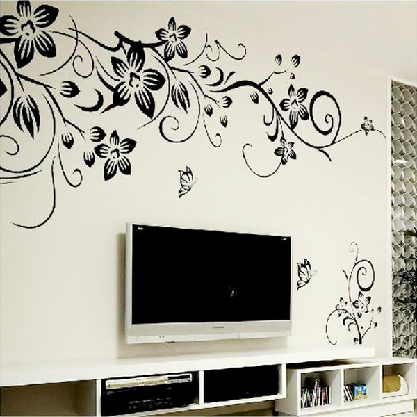 Hot Diy Wall Art Decal Decoration Fashion Romantic Flower Wall Sticker Wall Stickers Home Decor 3d Wallpaper Decals For Home Decorating Decals For