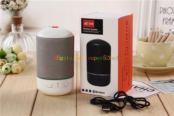 NEW Fabric art Bluetooth speaker column portable handle bass FM radio wireless speaker Sound System 3D stereo Music surround JC206