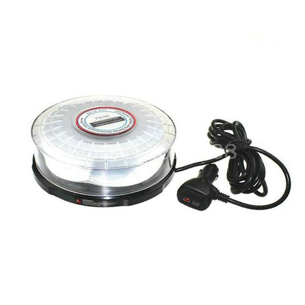 Magnetico montato 12V-24V 72W Car Auto LED Beacon Round Emergency Recovery Lampeggiante Avvertimento Luci stroboscopiche Lightbar Ambra Rosso Blu