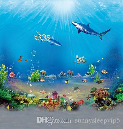 Undersea World 5X7ft Thin Vinyl Wedding Children Backgrounds For Photo Studio Props Photography Backdrops