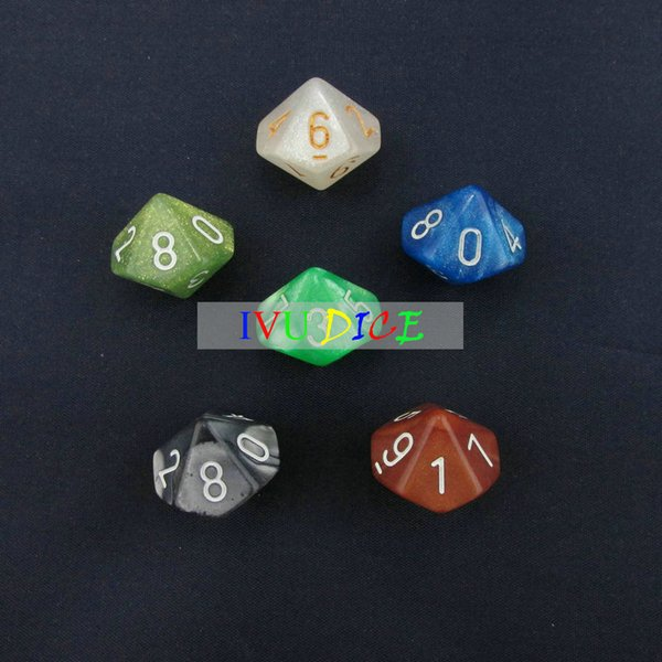 20pcs 10 sided 0-9 DND D10 Table BOARD GAME Dungeons&Dragons Magic 6 six Colors bosons Party Children dices IVU