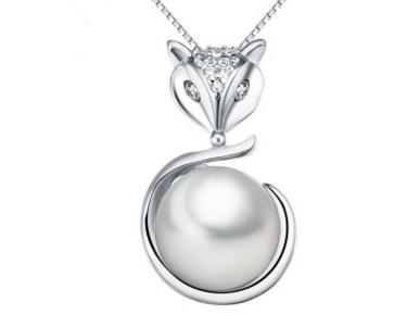 wonderful natural white pear pendant lady's necklace rter