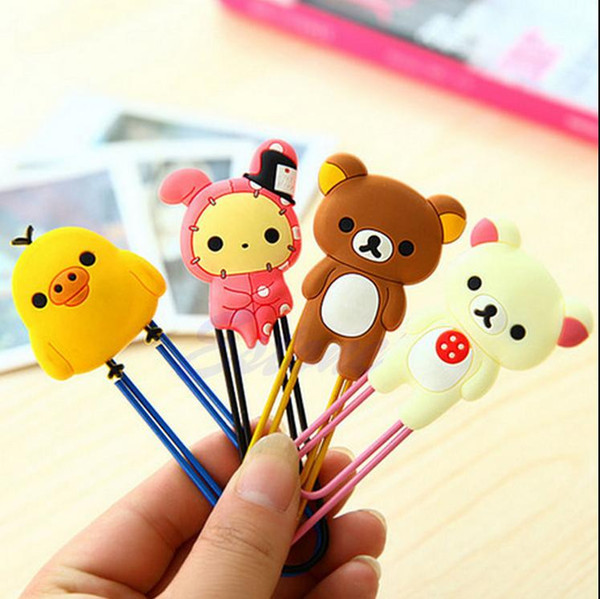 60 Pcs Cute Cartoon Animal Paper Note Pin Clip Bookmark Paperclip Office School Supply Brown bear white bear Chicken Youyou Free Shipping