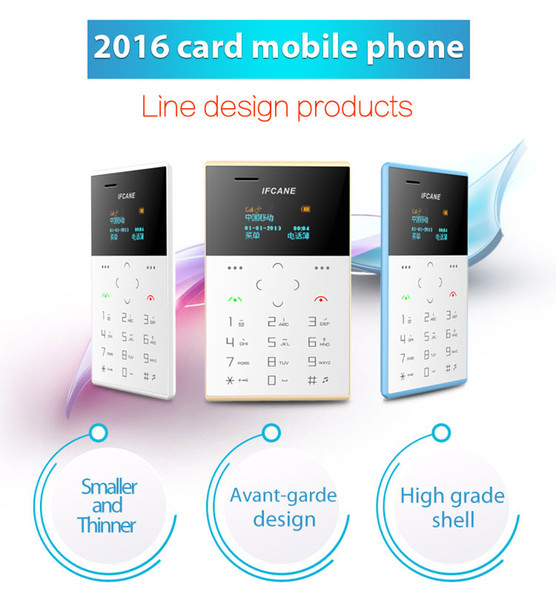 2018 cheap children new style small size IFcane E1 Card phone mini mobile phone ultra thin mini credit card phone FM Radio mini cheap phones