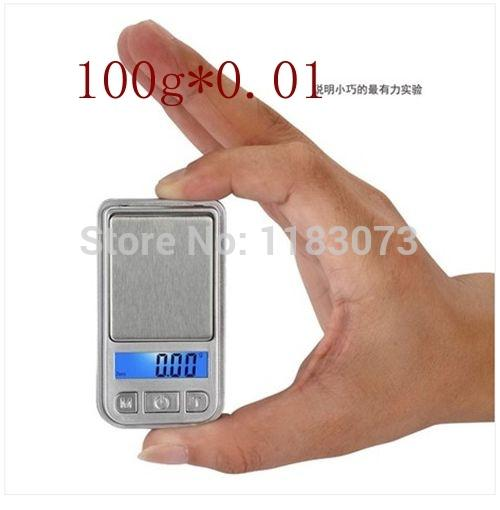 100g 0.01g Mini kitchen Scale LCD BackLight Jewelry Balance Weight Gram Scales for Carat Gem 100pcs/lot EMS Free shipping