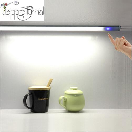 Portable USB Night Light Stepless Dimmer Touch Control LED Light Unlimited Dimmable Lamp Cool White for Closet, Wardrobe, Desk