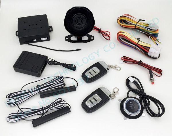 RFID car alarm,smart key car security system,PKE antenna,push start button,bypass keyless entry HY-904 chip avoidance device RM2