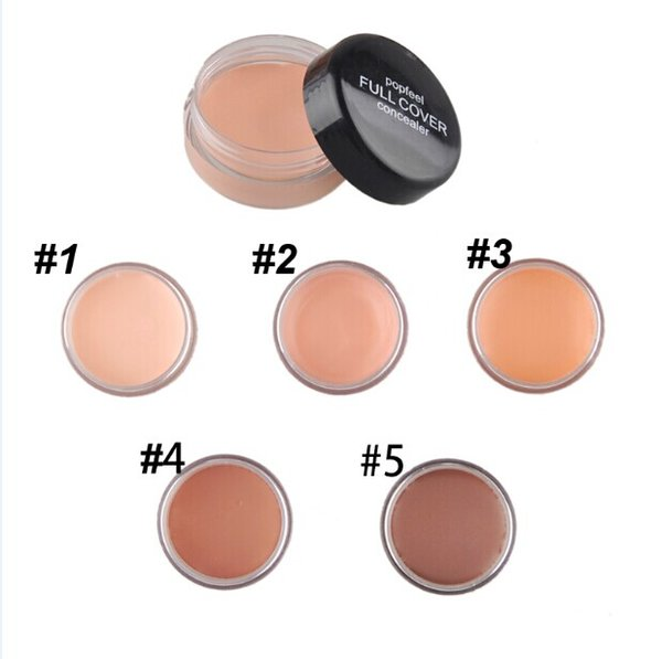 5 Colors Concealer Facial Nautral Care Foundation Makeup Face Powered Cream Concealer VS Minerals Powder 0605023