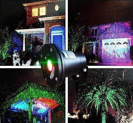 luces al aire libre láser Impermeable IP65 Láser Firefly Etapa Luces Paisaje Rojo Verde Proyector Jardín de Navidad Sky Star Lawn Lamps DHL