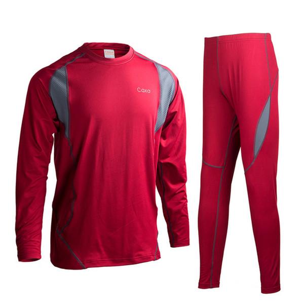 Chaqueta de esquí POLARTEC y pantalones al por mayor o para hombres o conjunto de esquí Ropa interior térmica para hombres Quick Dry Long Johns Men