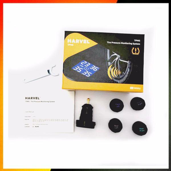 Tyre Pressure Monitoring System TPMS LCD Screen 4 Sensors Cigarette Lighter Real Time tpms Car Detector Diagnostic-tool