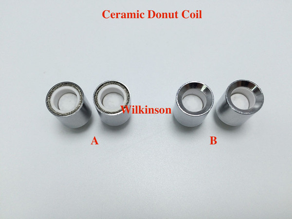 Ceramic Donut Coil head wax dome coil with ceramic plate ceramic donut coil for glass globe atomizer cannon vase bowling vaporizer