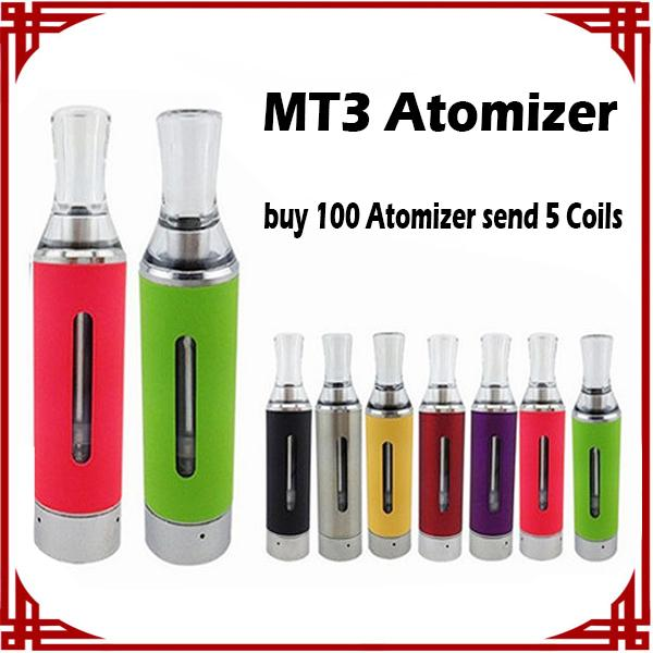 [ sp ] MT3 Atomizers evod BCC MT3 Atomizer 2.4ml Bottom Coil Tank Cartomizer for EGO EGO-C EGO-W EGO-T Battery E-Cigarette e cig Colorful