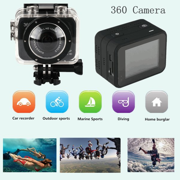 Nueva cámara de video deportiva X360 H.264 360 Degrees SportS Cam mini videocámara 360x190 Amplio panorámico de 360 grados DV DVR de video MOQ: 1PCS
