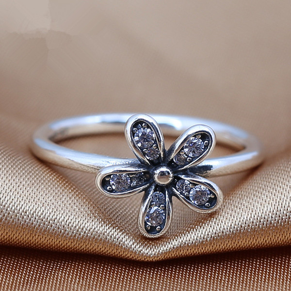 2016 charms rings s925 ale sterling silver luxury flower print carved band rings with The European and American rings good gift for friends