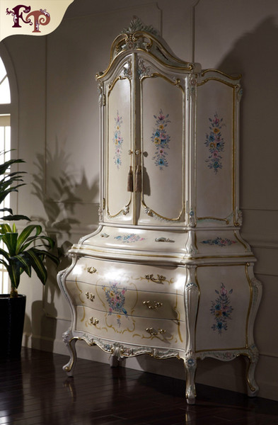 2019 Italian Classic Furniture Manufacturer Antique Bedroom Furniture  Luxury Hand Carved Wardrobe Solid Wood French Rococo Wardrobe From ...