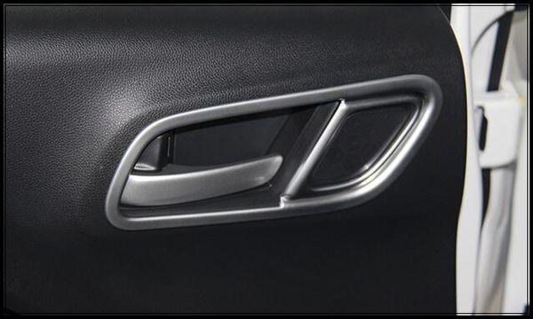 High quality ABS chrome 4pcs internal door bowl + 1pcs shifting gears decoration ring For Honda City 2015