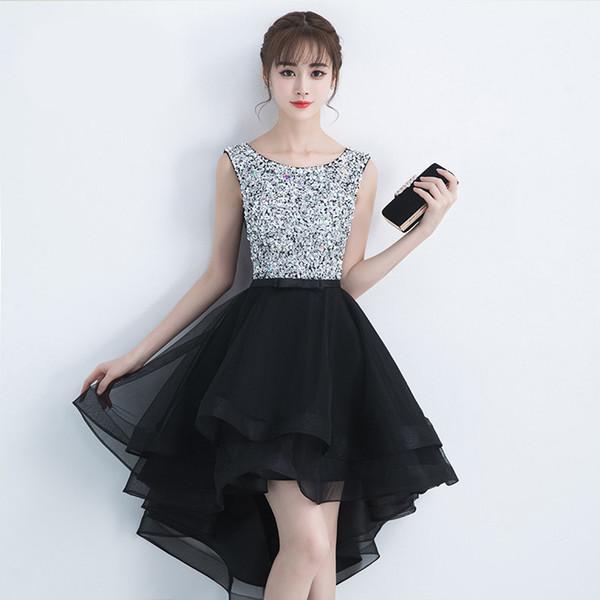 Black tuxedo for party/boutique/cocktail elegant hi-lo sleeveless bow sash bling bling crystal wedding dresses
