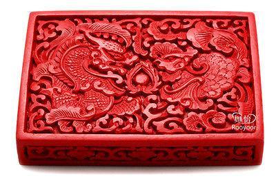 Großhandel Chinesische Blume Red Cinnabar Lack Drache Phoenix Schmuck Visitenkarte Box Günstige Freies Shiping Von Goldbug 2008 15 08 Auf