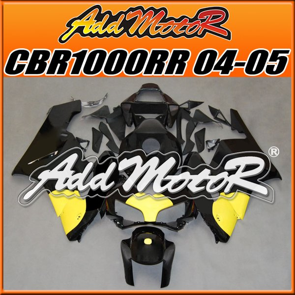 +Five Free Gifts! Addmotor Best Selling Injection Mold Fairings Fit Honda CBR1000RR 2004 2005 CBR 1000RR 04 05 Body Work Yellow Black H1439