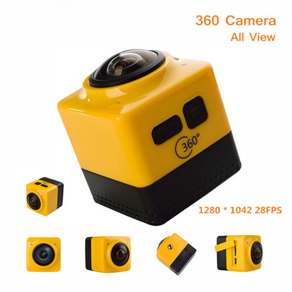 New Arrival Cube 360 Sports Video Camera WIFI H.264 360 Degrees Panorama Camera 360x190 Large Panoramic Shot Sports Camera