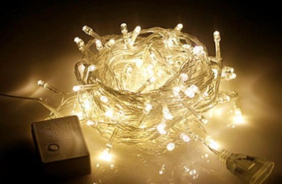 110v Warm White 30m 300 Led String Lighting Wedding Fairy Christmas Lights Outdoor Twinkle Decoration Tree Lights For New Year Party Purple Led String