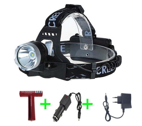 Meilleur prix nouveau rechargeable 2000lm XM-LT6 LED phare phare lampe de poche led éclairage vélo lumière + 2 * 18650batterie + voiture / ca / chargeur