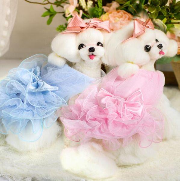 Lollipop Pet Products Supplies Dog Clothes Wear Apparel T-shirt Hoodies Puppy Dog Coat Dog Princess Wedding Tutu Dresses 7DLP60