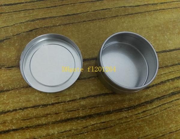 100pcs/lot Free Shipping 20g Metal Box 20ml Aluminum Jar lip gloss Container Tea Tin Cosmetics Packing bottle