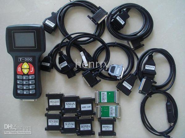 Programmatore di tasti T300 T 300 T CODICE AUTOMATICO Chiave transponder Versione più recente Colore nero blu Molti tipi di lingue