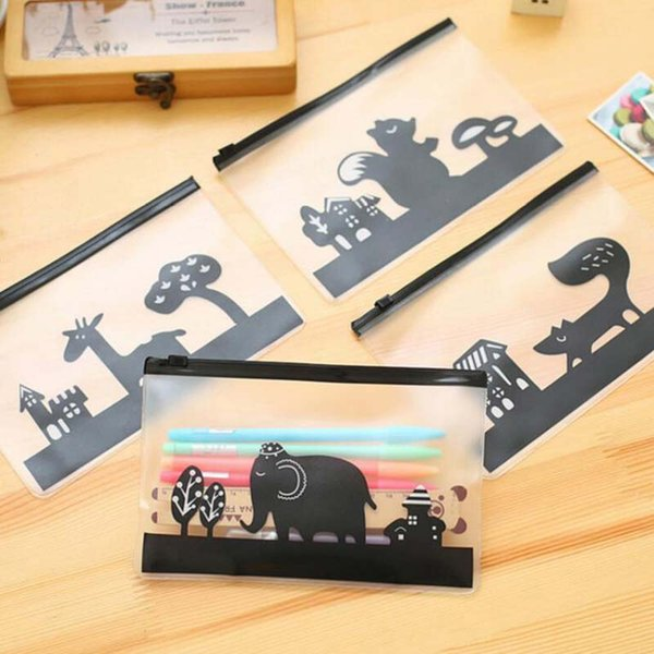Creative 10 pcs/lot Scrub Cartoon Files Bag Files Bags Document Bag Stationery Office School Supplies Christmas Gift 204X135mm Papelaria