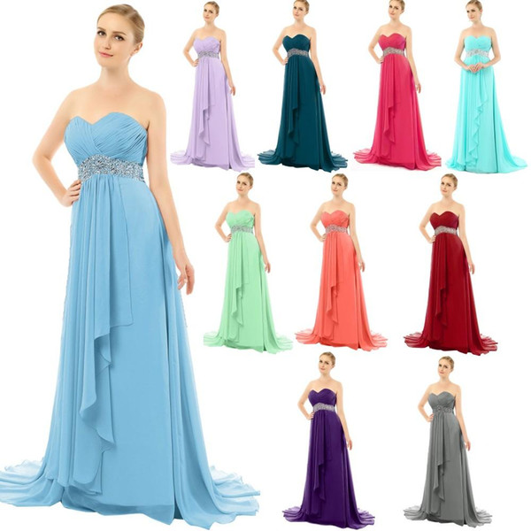 2019 Evening Dresses Long Strapless Crystal Beaded Prom Gowns Sweep Train Turquoise Blue Teal Purple Lavender Gray Burgundy Custom Made