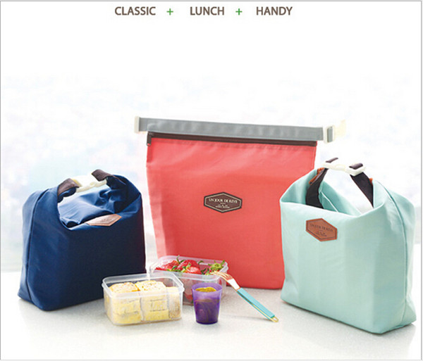 iconic lunch pouch lunch bag handy bag insulation bags aluminum foil cloth enthick ice bag 21x9x25cm