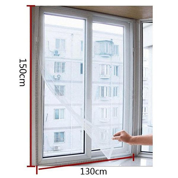 top popular New Door Window Flyscreen Wire Net Fly Bug Mosquito Mesh Screen Curtain White New 2021