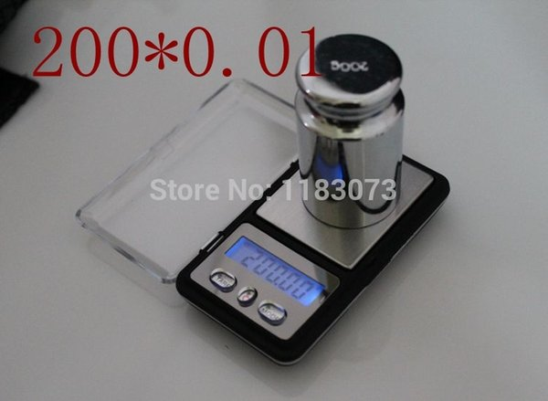 200g0.01g Mini Electronic Kitchen Scale Digital Pocket Jewelry Weigh Scale for Gem Diamond Gram Weight Balance Free Shipping
