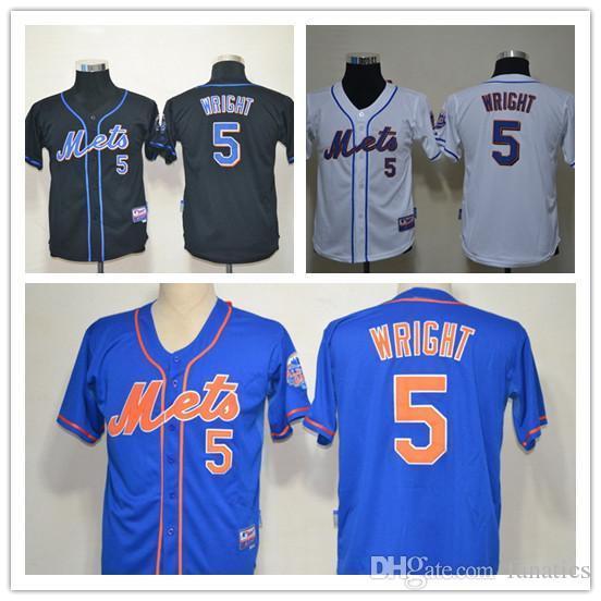 567bd5e88 2015 New Free Shipping Kids David Wright Kids Jersey Blue Boys New York  Mets 5 David ...