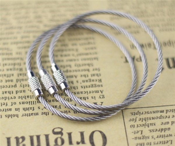 Sales of stainless steel wire key ring accessories, 2mm steel outdoor tools