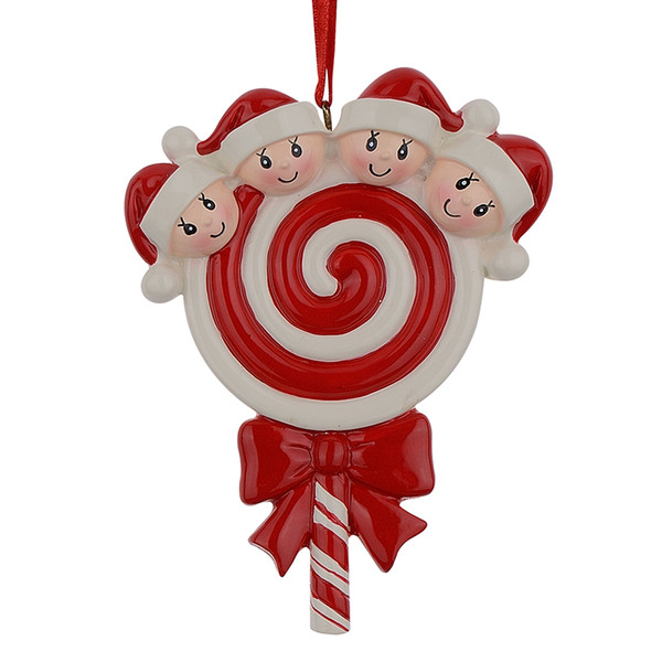 Lollipop Christmas Decorations.Lollipop Family Of 4 Resin Hang Christmas Ornaments With Glossy Baby Face As Craft Souvenir For Personalized Gifts Or Home Decor Cool Christmas