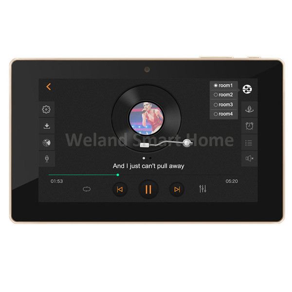 """Freeshipping 7"""" touch screen In wall android amplifier,home audio USB player, HDMI,WIFI audio digital stereo amplifier,home theater system"""