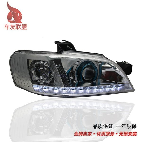 Buick GL8 headlight assembly old Buick GL8 headlamps modified dual color LED with double light xenon lamp