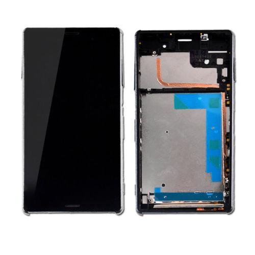 100% Origina / Lot Nuevo Z3 mini pantalla LCD + marco + conjunto de funda USB para Sony Xperia Z3 Conjunto de pantalla táctil LCD compacto DHL en blanco y negro